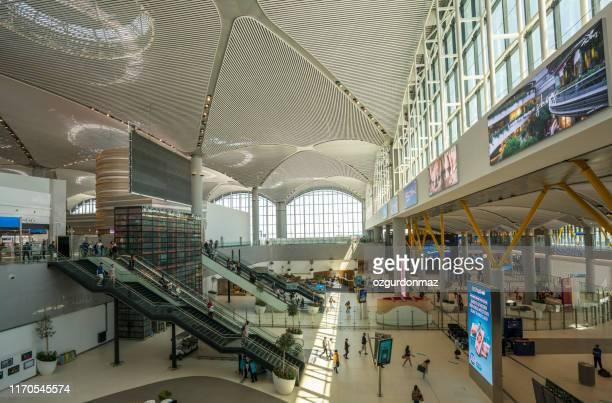 istanbul new airport, istanbul, turkey - contemporary istanbul foto e immagini stock
