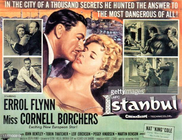 Istanbul poster Errol Flynn Cornell Borchers 1957
