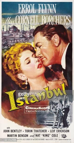 Istanbul, poster, l-r: Cornell Borchers, Errol Flynn, 1957.