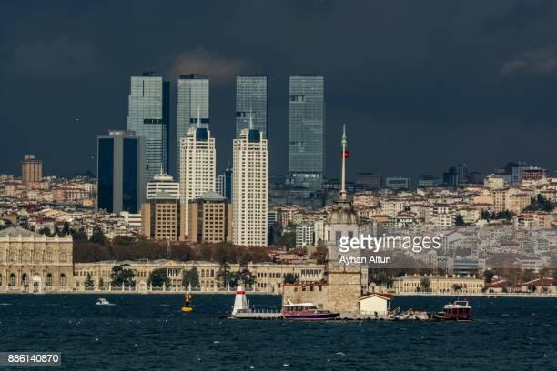 Istanbul skyline from asian side of Istanbul,Turkey