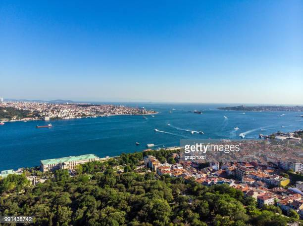 istanbul skyline from yildiz park - straits stock pictures, royalty-free photos & images