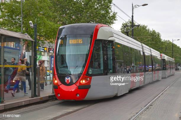 istanbul tram - gwengoat stock pictures, royalty-free photos & images