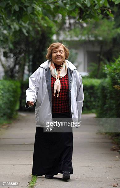 A file picture taken 13 October 2006 shows Turkish archaeologist Muazzez Ilmiye Cig in Istanbul Cig is to go on trial 01 November 2006 for opposing...