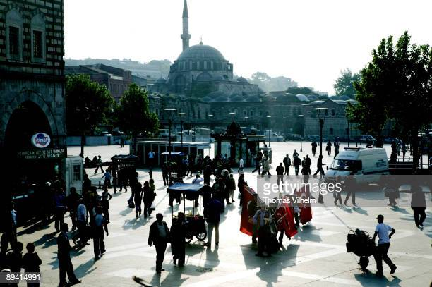 Istanbul Turkey District Tahtakale next to the Gran Bazaar Mosque Rustem Pasha