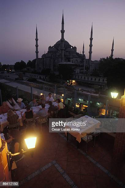 Istanbul Turkey Mosque blue