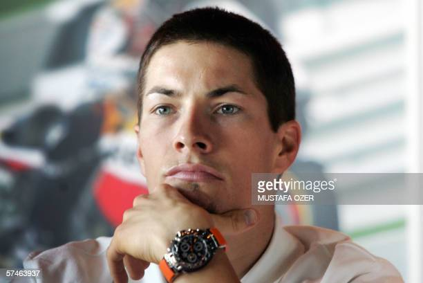 Repsol Honda MotoGP rider Nicky Hayden of the US attends a press conference in Istanbul 27 April 2006 MotoGP's Turkish Grand Prix will take place in...