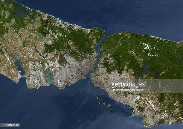 Istanbul Turkey True colour satellite image of Istanbul capital city of Turkey Image taken on 2 July 2000 using LANDSAT 7 data Istanbul Turkey True...