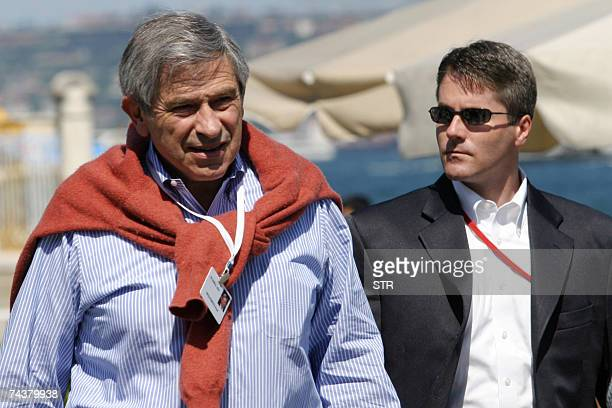 World Bank President Paul Wolfowitz walks in front of Dolmabahce Palace in Istanbul 02 June 2007 after a meeting of the Bilderberg group Members of...
