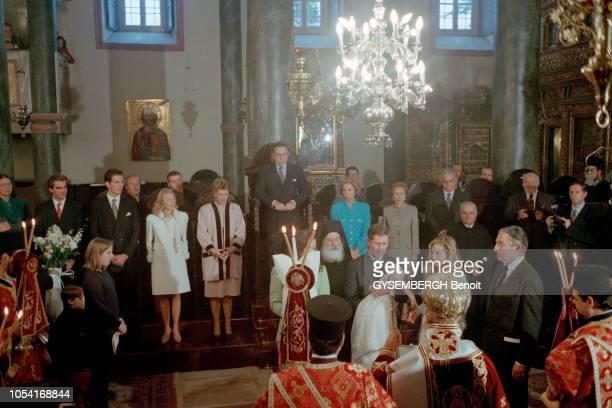 Istanbul Turquie 21 décembre 1996 Baptême de la princesse MARIA OLYMPIA la première fille du prince PAUL de Grèce et de son épouse MarieChantal...