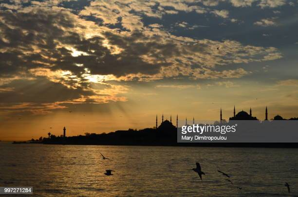 Istanbul view during sunset