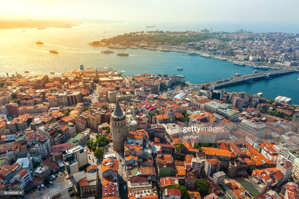 Vista de Estambul : Foto de stock