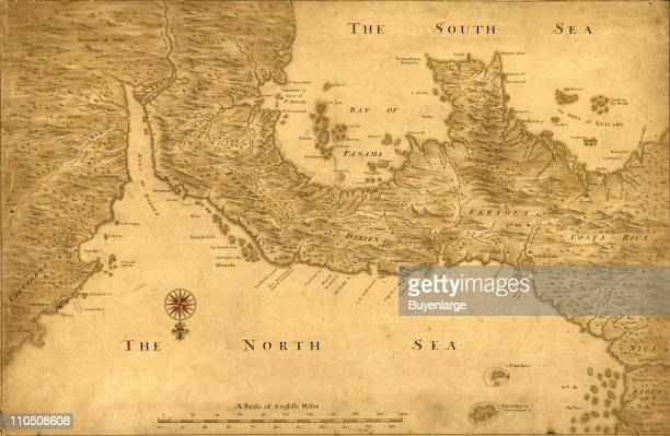 Isthmus of Panama from Cartagena to Nicaragua showing both coasts 1750
