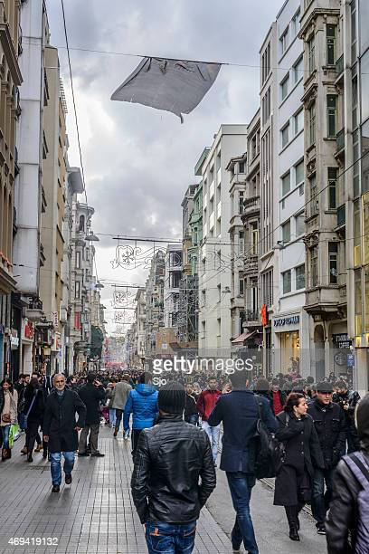 Istiklal Avenue or Istiklal Street on European side of Istanbul