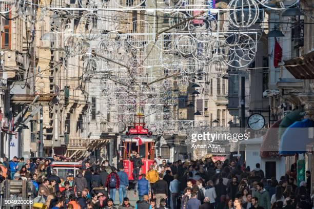 Istiklal Street,Beyoglu,Istanbul,Turkey