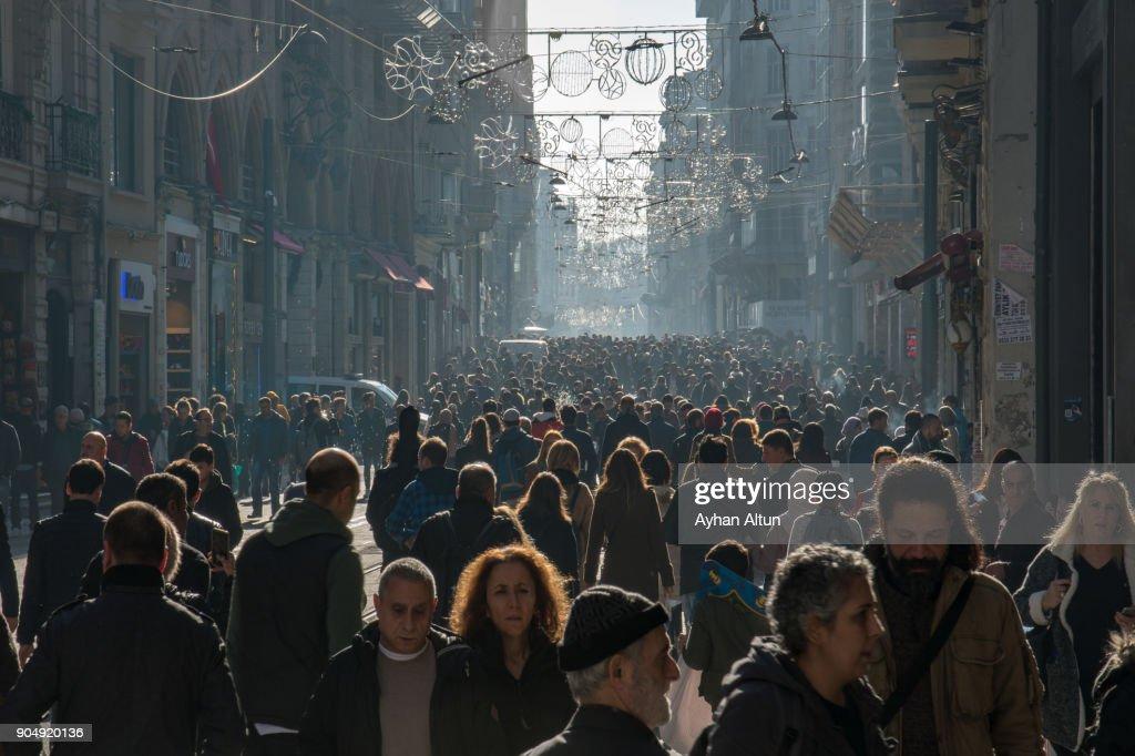 Istiklal Street,Beyoglu,Istanbul,Turkey : Stock Photo
