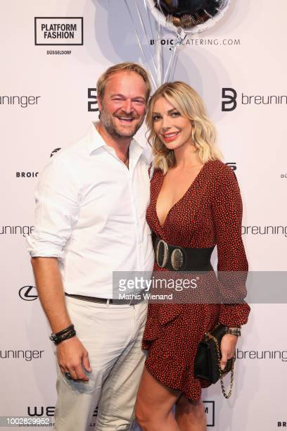 Istok Kespret and Annika Gassner attend the Breuninger show during Platform Fashion July 2018 at Areal Boehler on July 20 2018 in Duesseldorf Germany