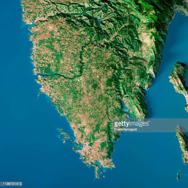 istria croatia topographic map top view sept 2018 - frankramspott stock pictures, royalty-free photos & images