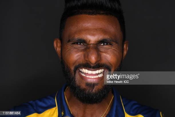 Isuru Udana of Sri Lanka poses for a portrait prior to the ICC Cricket World Cup 2019 at the Grand Harbour Hotel on May 26 2019 in Southampton England
