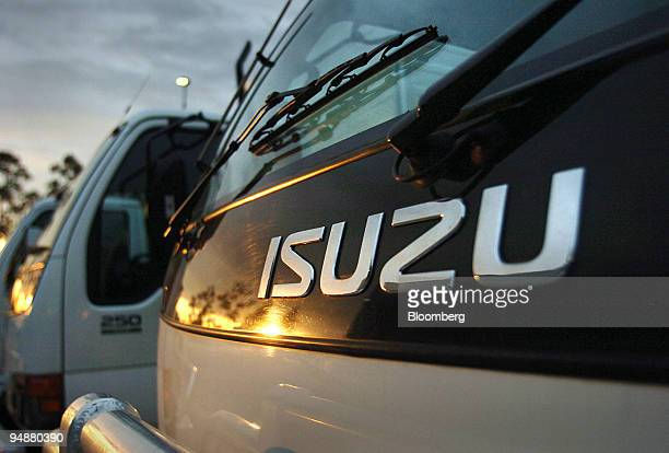 Isuzu commercial trucks are pictured at a dealership in western Sydney Australia Monday October 24 2005 Isuzu Motors Ltd Japan's largest truck maker...