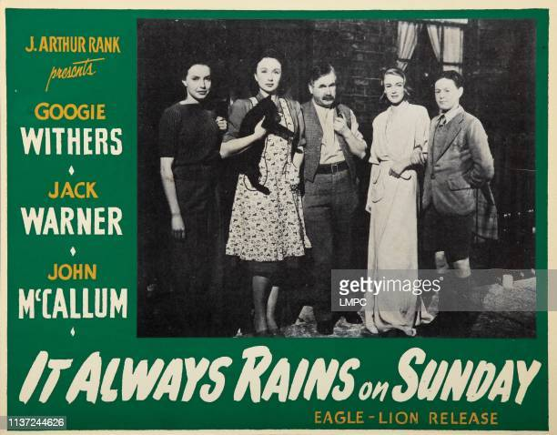 It Always Rains On Sunday lobbycard from left Patricia Plunkett Googie Withers Edward Chapman Susan Shaw David Lines 1947