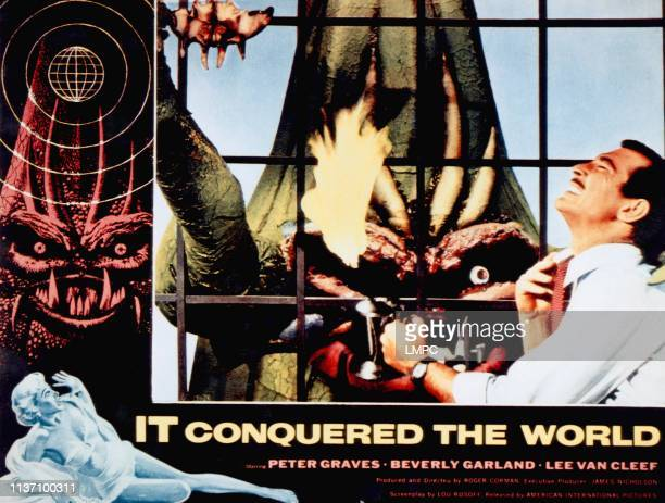 It Conquered The World, lobbycard, Lee Van Cleef, 1956.