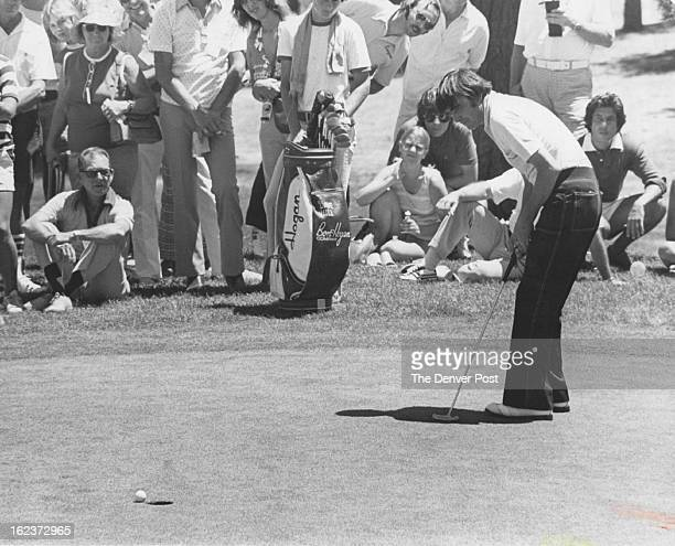 JUL 10 1977 It didn't fall But then it really didn't have to Despite missing this birdie putt Dave Hill set a Colorado Open record with a 13underpar...