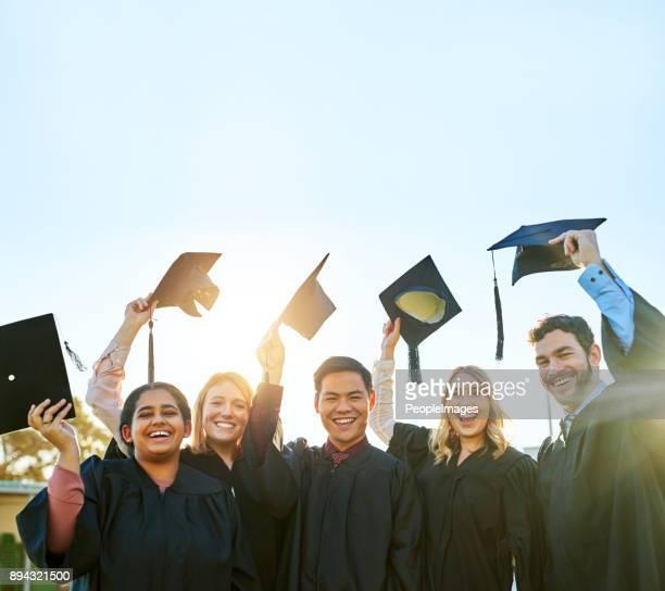 It feels amazing to finally graduate!