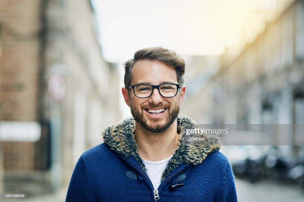 It feels great just taking a walk through the city : Stock Photo