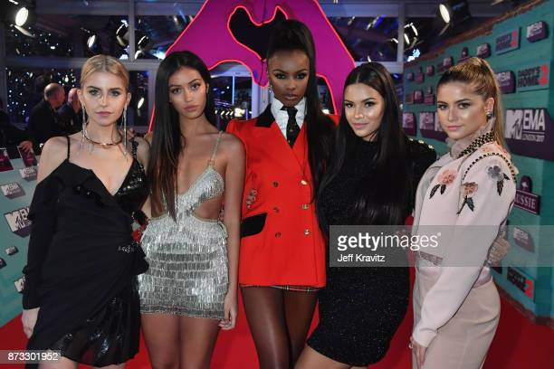 It Girls Caroline Daur Cindy Kimberly Leomie Anderson Monica Geuze and Sofia Reyes attend the MTV EMAs 2017 held at The SSE Arena Wembley on November...