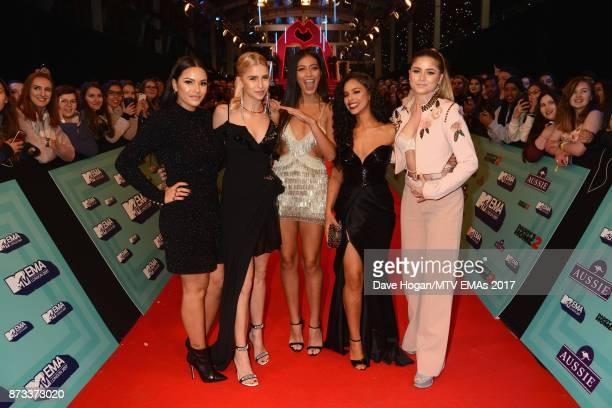 It Girls Caroline Daur Sofia Reyes Cindy Kimberly Monica Geuze and Nisrine Sbia attend the MTV EMAs 2017 held at The SSE Arena Wembley on November 12...