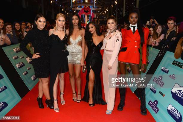 It Girls Caroline Daur Sofia Reyes Cindy Kimberly Monica Geuze Leomie Anderson and Nisrine Sbia attend the MTV EMAs 2017 held at The SSE Arena...