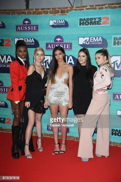 It Girls Leomie Anderson Caroline Daur Cindy Kimberly Monica Geuze and Sofia Reyes attend the MTV EMAs 2017 held at The SSE Arena Wembley on November...