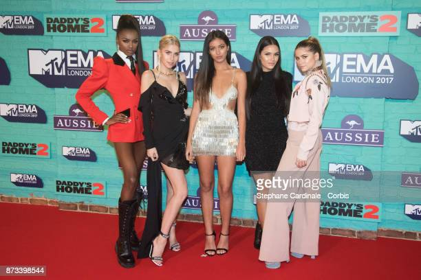 It Girls Leomie Anderson Caroline Daur Cindy Kimberly Monica Geuze and Sofia Reyes attend the MTV EMAs 2017 at The SSE Arena Wembley on November 12...