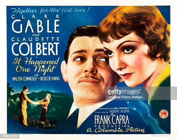It Happened One Night starring Clark Gable and Claudette Colbert Winner of all 5 major 1934 Oscars