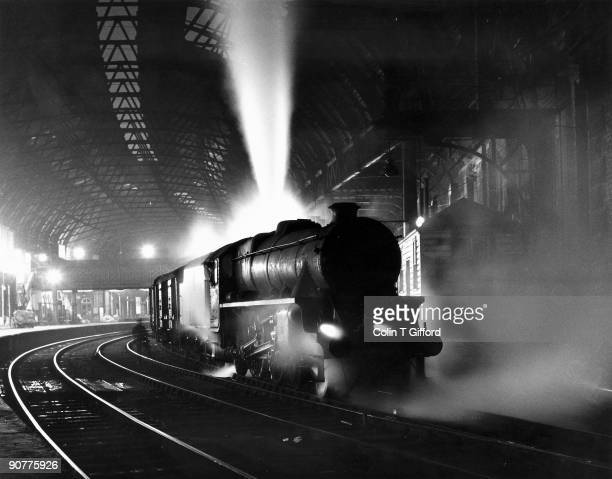 It is 01:15 at the west end of Birmingham New Street where Class 5 4-6-0 No.44829 waits with a parcel train. Photograph by Colin T Gifford.