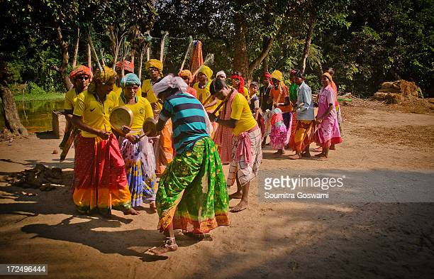 It is a ritual of the tribes to dance door to door of the villagers on the days of Durga Puja and collect their donation like as money. Vegetables or...