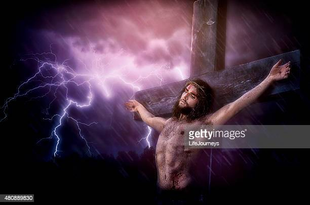 it is finished - christ's last words during his crucifixion‎ - jesus blood stock pictures, royalty-free photos & images