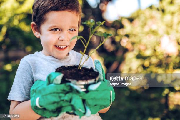 It is funnyfor kid in garden