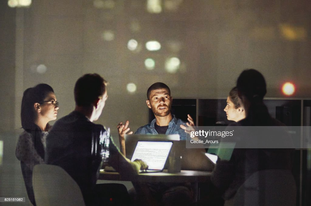 It is great to discuss ideas then bring it to life : Stock Photo
