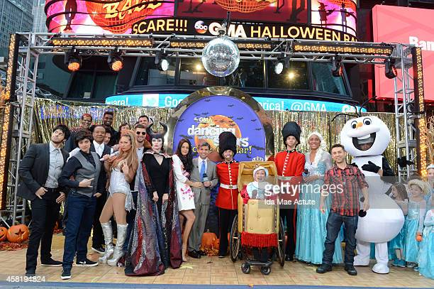 It is Halloween morning in Times Square and anything can happen - on GOOD MORNING AMERICA, 10/31/14, airing on the Walt Disney Television via Getty...