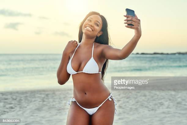 It is important to take a selfie at the beach