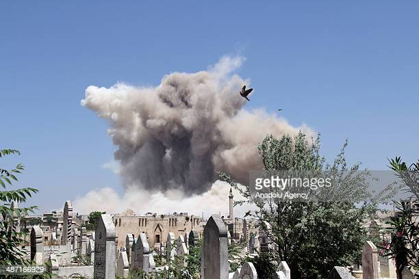 It is informed that troops of Islamic Front mine around historic castle and destroy the buildings that regime forces use as headquarters in Aleppo,...