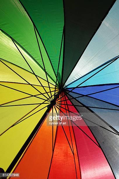 It is rainbow umbrella