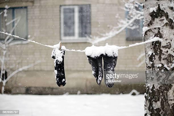 It is winter in Russia