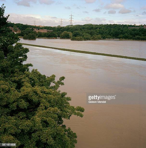 It looks like a lake but it is actually flooded farmland near Catcliffe Village in south Yorkshire This was one of the areas which was flooded when a...