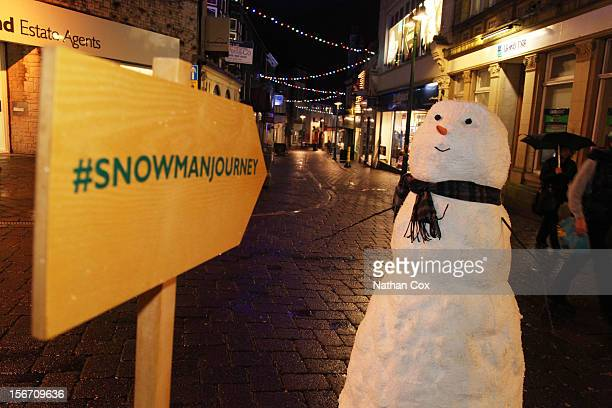 It may not be snowing but a snowman has already appeared at Lake Windermere The star of the current John Lewis Christmas advertising campaign is...