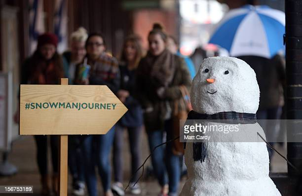 It may not be snowing but a snowman has already appeared taking a ferry boat ride on November 20 2012 in Bristol England The star of the current John...