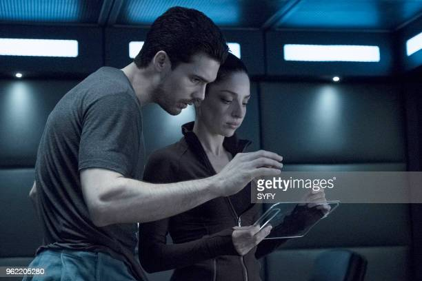 THE EXPANSE 'It Reaches Out' Episode 308 Pictured Steven Strait as James Holden Anna Hopkins as Monica Stuart