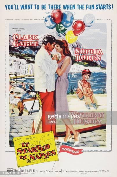 It Started In Naples poster US poster art from left Clark Gable Sophia Loren back right Marietto 1960