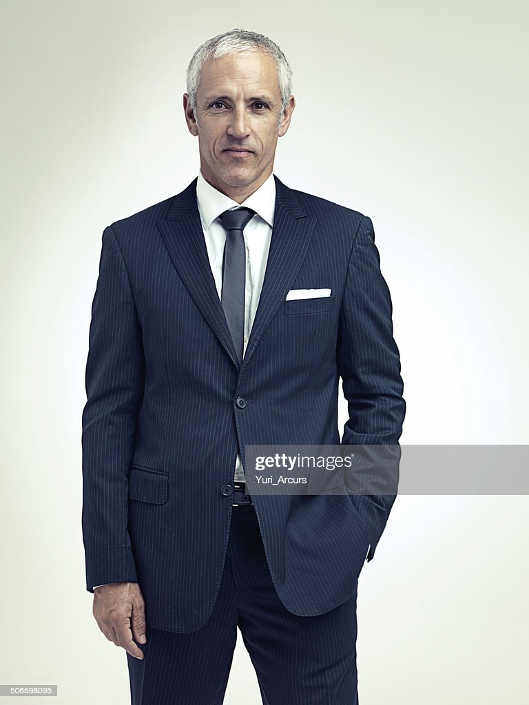It suits him to be successful : Stock Photo